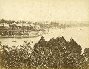 View from Darling Pt across Rushcutters Bay to Elizabeth Bay